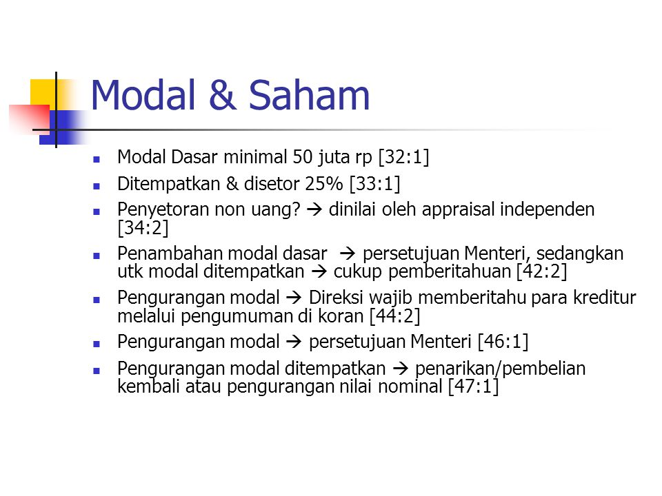 Modal & Saham Modal Dasar minimal 50 juta rp [32:1]
